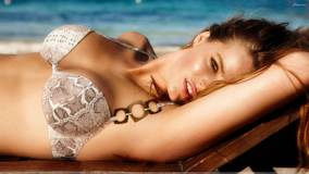 Robyn Lawley Laying In Bikini At Calzedonia Spring-Summer 2012